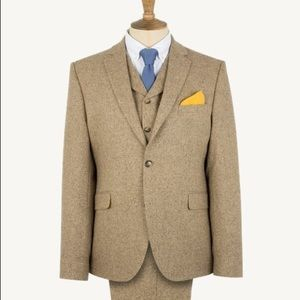 Gibson London textured tan tweed suit 2pc NWT